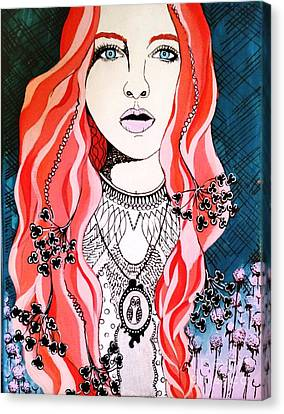 Red Head Canvas Print by Amy Sorrell