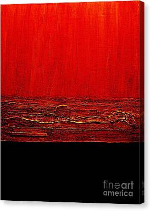 Red Hot Abstract Canvas Print by Marsha Heiken