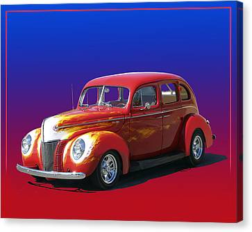 Red Hot Ford Fordor Canvas Print by Jack Pumphrey