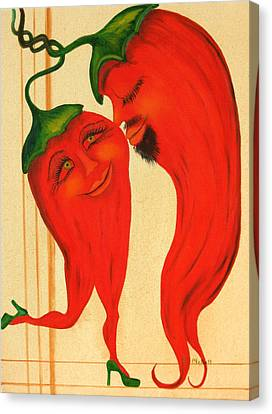 Red Hot Lovers Canvas Print by RJ McNall