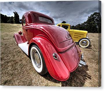 Red Hot Rod - 1930s Ford Coupe Canvas Print by Gill Billington