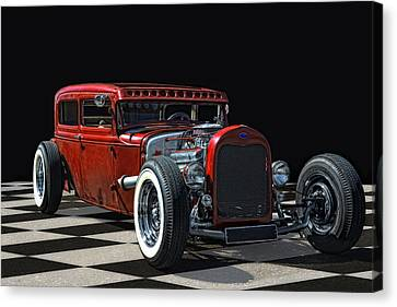 Red Hot Rod Canvas Print by Joachim G Pinkawa