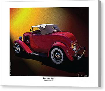 Red Hot Rod Canvas Print by Kenneth De Tore