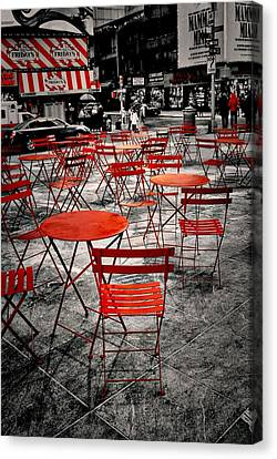 Red In My World - New York City Canvas Print by Angie Tirado