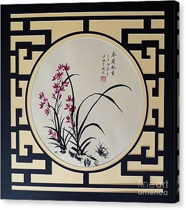 Red Iris Canvas Print by Birgit Moldenhauer