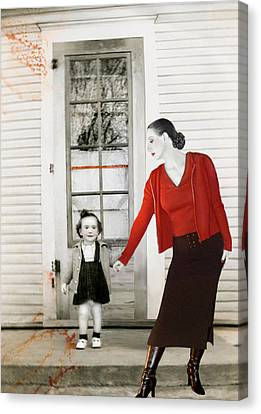 Red Jane - Self Portrait Canvas Print by Jaeda DeWalt