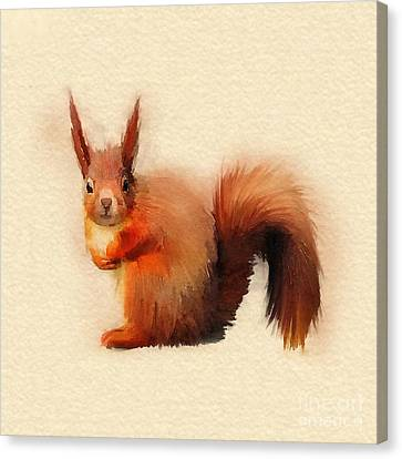 Red Canvas Print by John Edwards