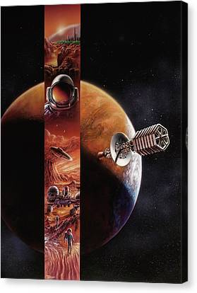 Red Mars Cover Painting Canvas Print by Don Dixon