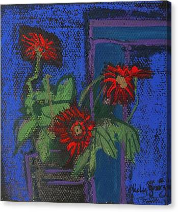 Red Mini Surprise Canvas Print by Jo Anne Neely Gomez
