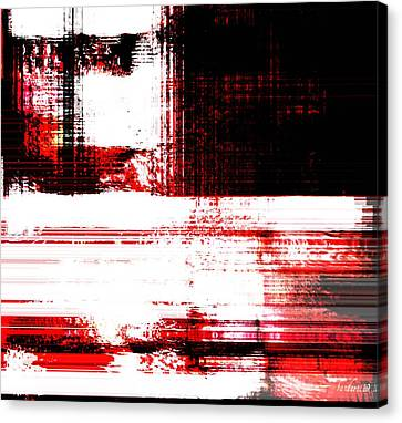 Red On Wood Canvas Print by Fania Simon