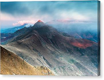Red Peak Canvas Print by Evgeni Dinev