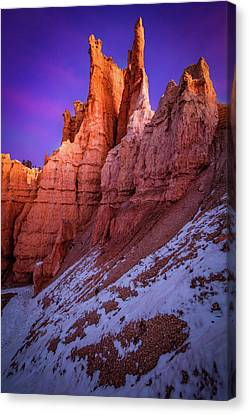 Red Peaks Canvas Print by Edgars Erglis