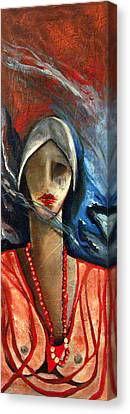 Red Pearls Canvas Print by Niki Sands