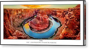 Colorado River Canvas Print featuring the photograph Red Planet Panorama Poster Print by Az Jackson