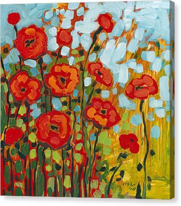 Red Poppy Field Canvas Print by Jennifer Lommers