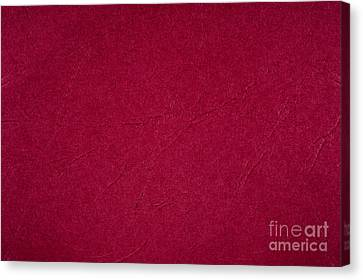 Red Ragged Cardboard Texture Canvas Print by Arletta Cwalina