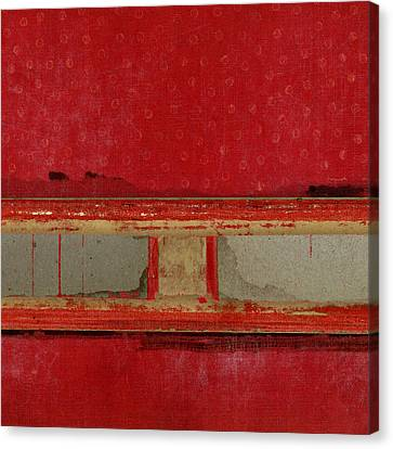 Red Riley Collage Square 2 Canvas Print by Carol Leigh