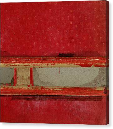 Red Riley Collage Square 3 Canvas Print by Carol Leigh