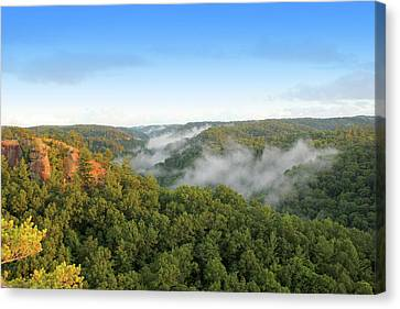 Red River Gorge Kentucky View Of Chimney Top Rock At Sunset Canvas Print by Design Turnpike