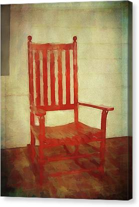 Red Rocker Canvas Print by Bellesouth Studio