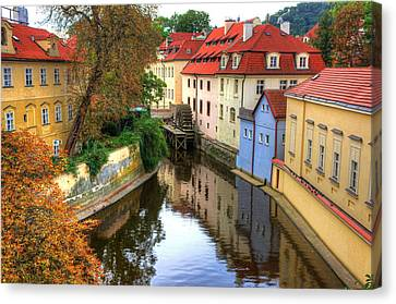 Red Roofs Of Prague Canvas Print by Jay Lee