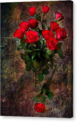 Red Roses Canvas Print by Svetlana Sewell
