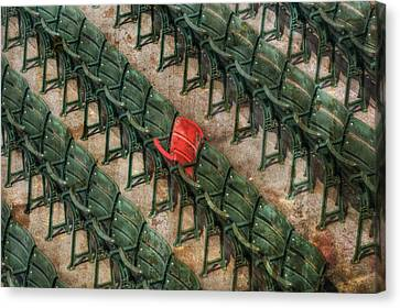 Red Seat At Fenway Park - Boston Canvas Print by Joann Vitali