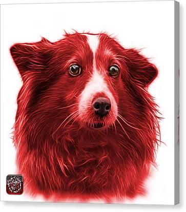 Red Shetland Sheepdog Dog Art 9973 - Wb Canvas Print by James Ahn