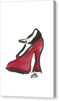 Red Shoe Canvas Print by Carl Griffasi