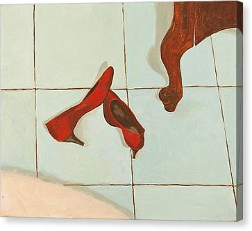 Red Shoes Canvas Print by Lissa Banks