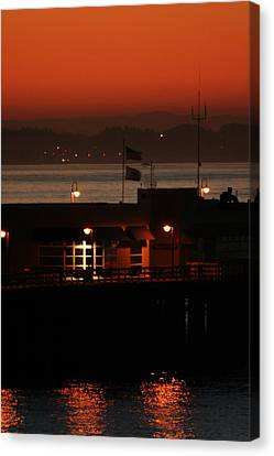 Red Sky In The Morn Canvas Print by Holly Ethan