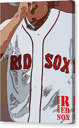 Red Sox Baseball Team White And Red Canvas Print by Pablo Franchi