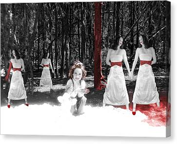 Red Stains - Self Portrait Canvas Print by Jaeda DeWalt