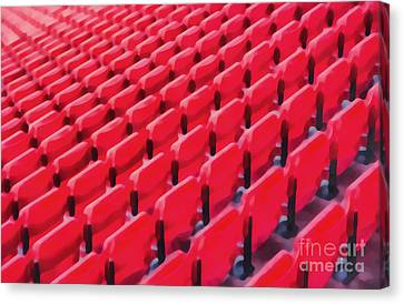 Red Stadium Seats Canvas Print by Edward Fielding