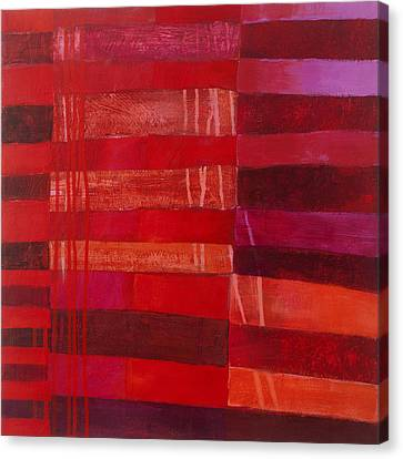 Red Stripes 2 Canvas Print by Jane Davies