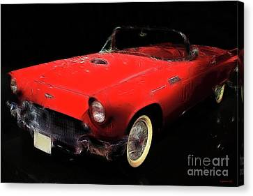 Red Thunder Canvas Print by Wingsdomain Art and Photography