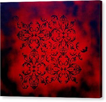 Red Velvet By Madart Canvas Print by Megan Duncanson