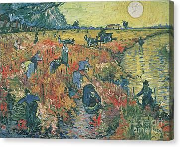 Red Vineyards At Arles Canvas Print by Vincent van Gogh