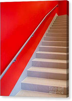 Red Walls Staircase Canvas Print by Edward Fielding