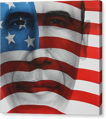 Red White And Blue Canvas Print by Gary Kaemmer