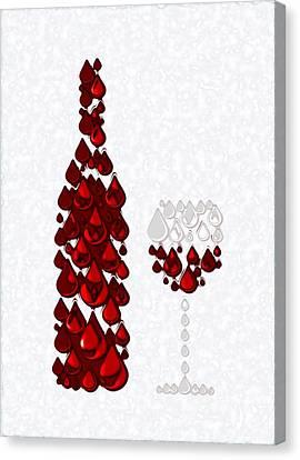 Red Wine Canvas Print by Anastasiya Malakhova
