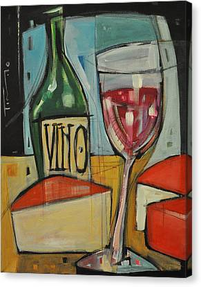 Red Wine And Cheese Canvas Print by Tim Nyberg