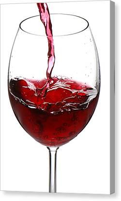 Red Wine Canvas Print by Jaroslaw Grudzinski
