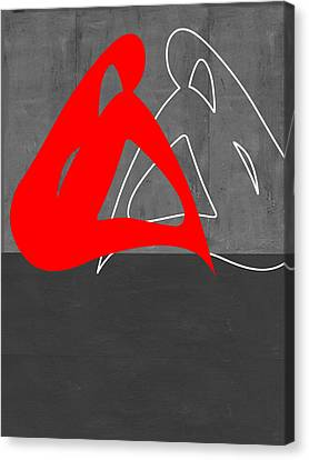 Red Woman Canvas Print by Naxart Studio