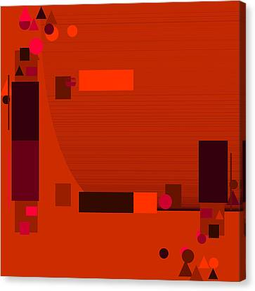 Red.58 Canvas Print by Gareth Lewis