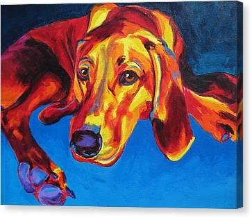 Redbone Coonhound Canvas Print by Alicia VanNoy Call