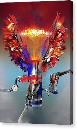 Redbull Gives You Wings Canvas Print by Robert Palmer