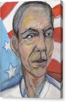 Reelecting Obama In 2012 Canvas Print by Derrick Hayes