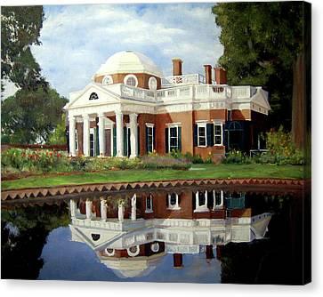 Reflecting On Jefferson Canvas Print by J Luis Lozano