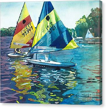 Reflections After The Race Canvas Print by LeAnne Sowa